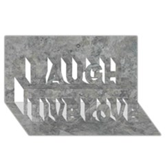 Silver Travertine Laugh Live Love 3d Greeting Card (8x4)
