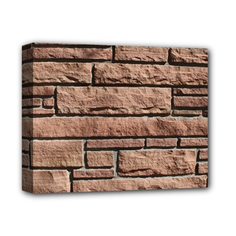 Sandstone Brick Deluxe Canvas 14  X 11  by trendistuff