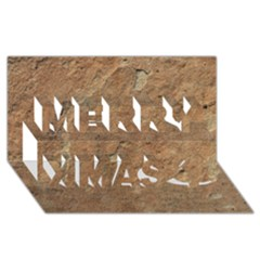 SANDSTONE Merry Xmas 3D Greeting Card (8x4)  by trendistuff