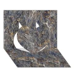 Rusty Stone Heart 3d Greeting Card (7x5)  by trendistuff