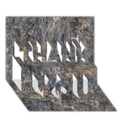 Rusty Stone Thank You 3d Greeting Card (7x5)  by trendistuff