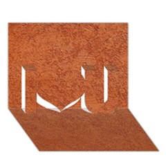 Rust Colored Stucco I Love You 3d Greeting Card (7x5)  by trendistuff