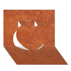 Rust Colored Stucco Heart 3d Greeting Card (7x5)  by trendistuff