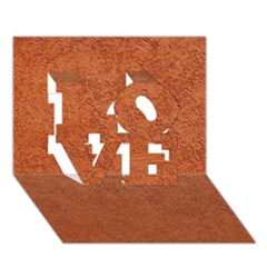 Rust Colored Stucco Love 3d Greeting Card (7x5)  by trendistuff