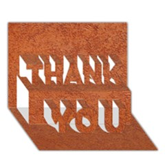 Rust Colored Stucco Thank You 3d Greeting Card (7x5)