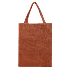 Rust Colored Stucco Classic Tote Bags by trendistuff