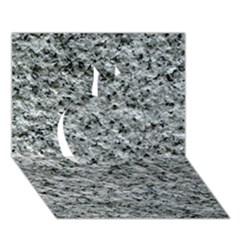 Rough Grey Stone Apple 3d Greeting Card (7x5)