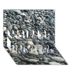 Pebbles You Are Invited 3d Greeting Card (7x5)  by trendistuff