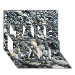 Pebbles Take Care 3d Greeting Card (7x5)  by trendistuff