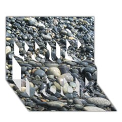 Pebbles You Rock 3d Greeting Card (7x5)  by trendistuff