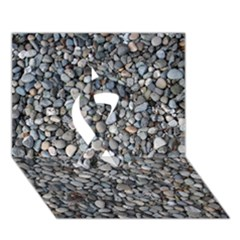 Pebble Beach Ribbon 3d Greeting Card (7x5)