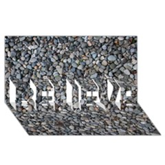 Pebble Beach Believe 3d Greeting Card (8x4)  by trendistuff