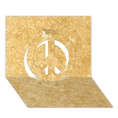 Noce Travertine Peace Sign 3d Greeting Card (7x5)  by trendistuff