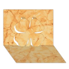 Marble Light Tan Clover 3d Greeting Card (7x5)