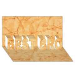Marble Light Tan Best Bro 3d Greeting Card (8x4)