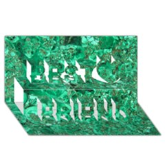 Marble Green Best Friends 3d Greeting Card (8x4)  by trendistuff