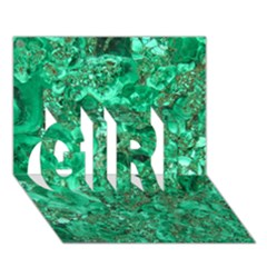 Marble Green Girl 3d Greeting Card (7x5)