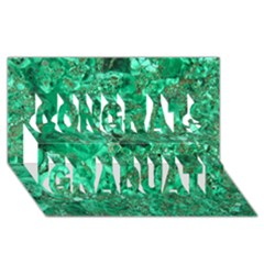 Marble Green Congrats Graduate 3d Greeting Card (8x4)  by trendistuff
