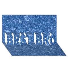 Marble Blue Best Bro 3d Greeting Card (8x4)  by trendistuff