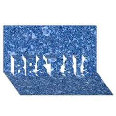 MARBLE BLUE BEST SIS 3D Greeting Card (8x4)  by trendistuff