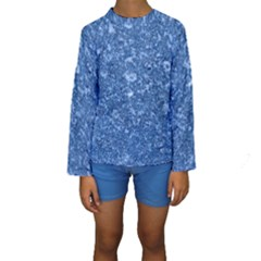 Marble Blue Kid s Long Sleeve Swimwear by trendistuff
