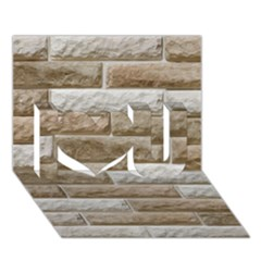 Light Brick Wall I Love You 3d Greeting Card (7x5)  by trendistuff