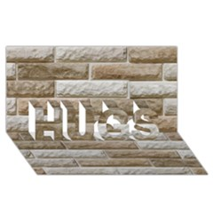 Light Brick Wall Hugs 3d Greeting Card (8x4)  by trendistuff