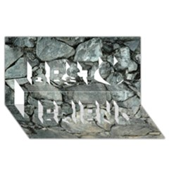Grey Stone Pile Best Friends 3d Greeting Card (8x4)