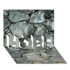 Grey Stone Pile Hope 3d Greeting Card (7x5)  by trendistuff