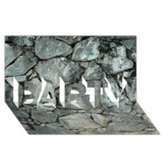 Grey Stone Pile Party 3d Greeting Card (8x4)  by trendistuff