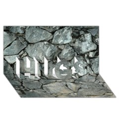 Grey Stone Pile Hugs 3d Greeting Card (8x4)