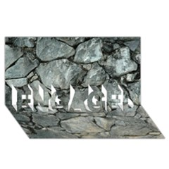 Grey Stone Pile Engaged 3d Greeting Card (8x4)  by trendistuff