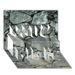 Grey Stone Pile You Did It 3d Greeting Card (7x5)