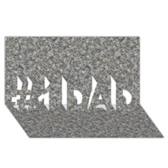 Grey Marble #1 Dad 3d Greeting Card (8x4)