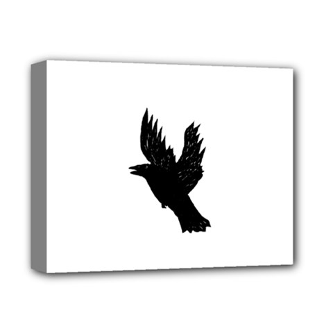 Crow Deluxe Canvas 14  X 11  by JDDesigns