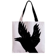 Crow Grocery Tote Bags by JDDesigns