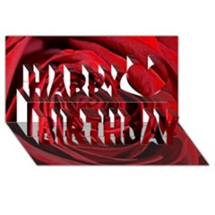 Beautifully Red Happy Birthday 3D Greeting Card (8x4)  by timelessartoncanvas