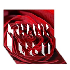 Beautifully Red Thank You 3d Greeting Card (7x5)