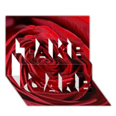 Beautifully Red Take Care 3d Greeting Card (7x5)