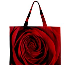 Beautifully Red Zipper Tiny Tote Bags by timelessartoncanvas