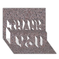 Granite Red Grey Thank You 3d Greeting Card (7x5)