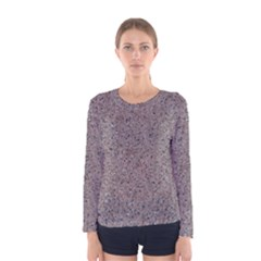Granite Red Grey Women s Long Sleeve T Shirts by trendistuff