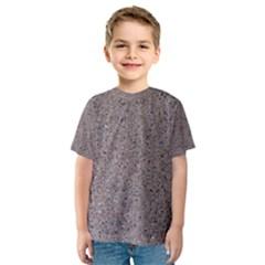 Granite Red Grey Kid s Sport Mesh Tees