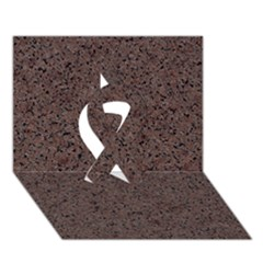 Granite Red Brown Ribbon 3d Greeting Card (7x5)