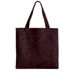 Granite Red Brown Zipper Grocery Tote Bags by trendistuff