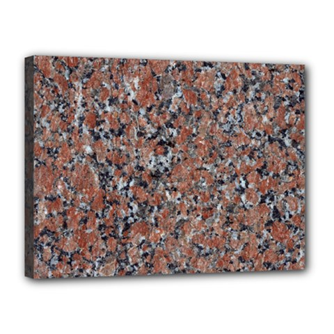 Granite Red Black Canvas 16  X 12  by trendistuff