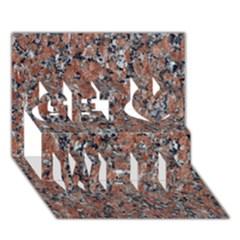 Granite Red Black Get Well 3d Greeting Card (7x5)