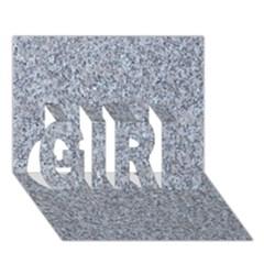 Granite Blue Grey Girl 3d Greeting Card (7x5)