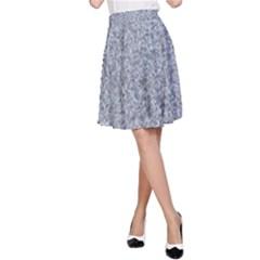 Granite Blue Grey A Line Skirt by trendistuff
