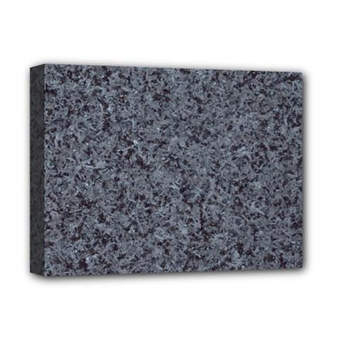 Granite Blue Black 3 Deluxe Canvas 16  X 12   by trendistuff